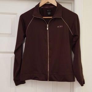BCBG Athletic Workout Zip Up Brown Jacket M